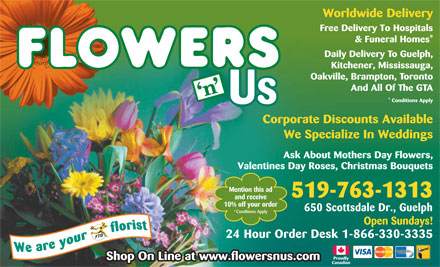 Flowers 'N' Us - 519-763-1313 - 650 Scottsdale Drive, Guelph