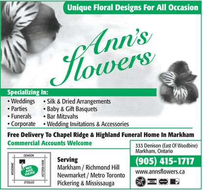 Ann's Flowers - Click here to visit our website!