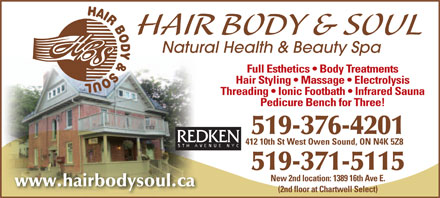 Hair Body and Soul - 519-376-4201 - Click here to visit our Website!