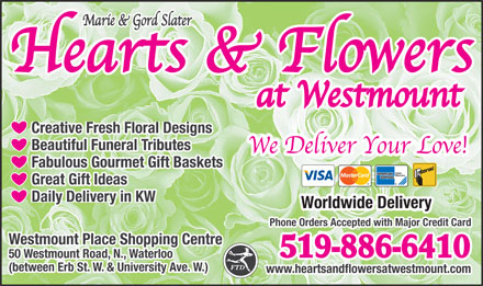 Hearts & Flowers At Westmount - Click here to visit our website!