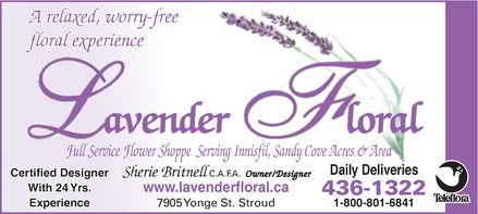 Lavender Floral - Click here to visit our website!