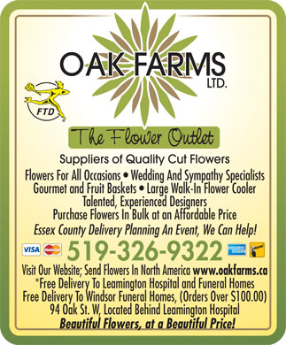 Oak Farms Ltd. - Click here to visit our website!