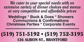 Polish Alliance Banquet Centre - 126 Albion St., Brantford - 519-752-3195 - Click here to visit our website!