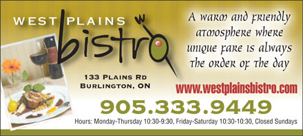 West Plains Bistro - Click here to visit our website!