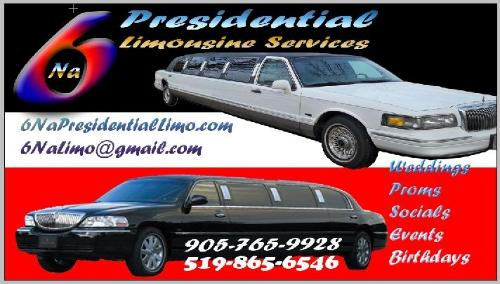 6Na Presidential Limousine Services - 905-765-9928 -       Click here to visit our website!
