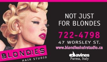 Blondies Hair Studio - 705-722-4798 - Our hair styling boutique offers top brands like Tigi and Eufora Hair care products and hair salon services including ; hair cutting , hair colouring , perms, and special occasion hair styling . Hair removal using advanced waxing techniques is also offered . Call Blondies Hair Studio for an appointment today and get that fresh new hair style you have been looking for . Not Just for Blondes! - 47 Worsley Street, Barrie, ON
