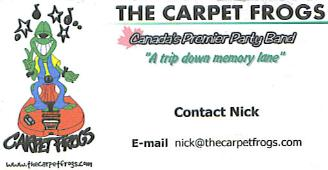 The Carpet Frogs - Canada's Premier Party Band -