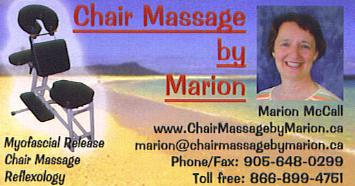 Chair Massage by Marion