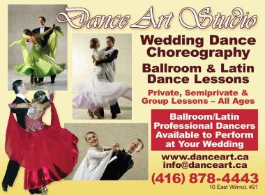 Dance Art Studio - Wedding Dance Choreography for your Special Dance! Ballroom and Latin Dance Lessons - 416-878-4443 - 10 East Wilmot St., Unit 21, Richmond Hill