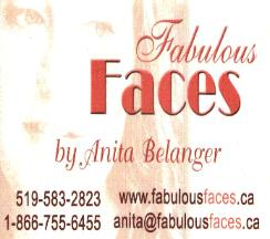 Fabulous FacesBy Anita BelangerPersonal In-home Make-up ServicesCelebrity Make-up artist featured onCity TV's