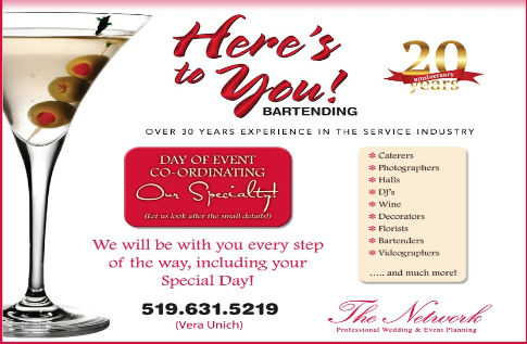 Here's To You Bartending - Click here to visit our website!