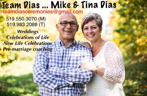 Mike and Tina Dias - Wedding Officiants - Click here to visit our website!
