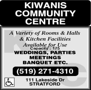 Kiwanis Community Centre - A Variety of Rooms, Halls and Kitchen Facilities Available for use. WEDDINGS, PARTIES, MEETINGS, BANQUETS, Etc.