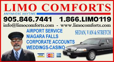 Limo Comforts - 1-866-546-6119 - Toronto Limo Comforts provides you professional limousine and van services to meet all your travel needs and exceed your every expectation at very competitive prices.