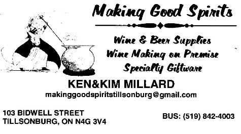 Making Good Spirits - 519-842-4003 - Click here to visit our Facebook Page!