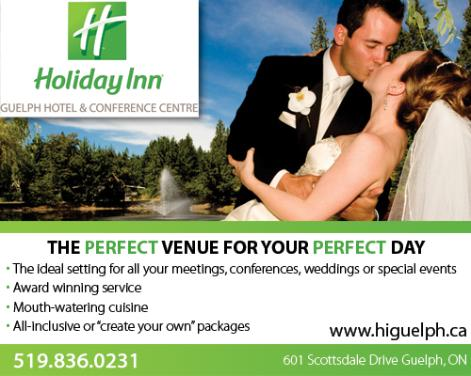 Holiday Inn Guelph Hotel and Conference Centre -        The perfect venue for your Wedding or Corporate event -       Click here to visit our website!