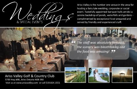 Ariss Valley Golf and Country Club    -     519-824-1551  -    Click here to visit our website!