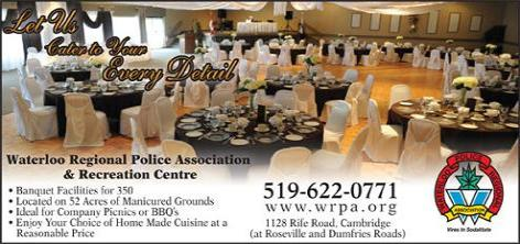 Waterloo Regional Police Association and Recreation Center - The perfect venue for your wedding or special event ! - Click here to visit our website!
