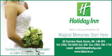 Holiday Inn Barrie Hotel and Conference Centre                   20 Fairview Road-Barrie - Click here to visit our website!